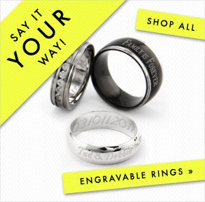 Shop Engravable Rings