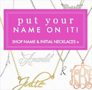 Shop Name and Initial Necklaces