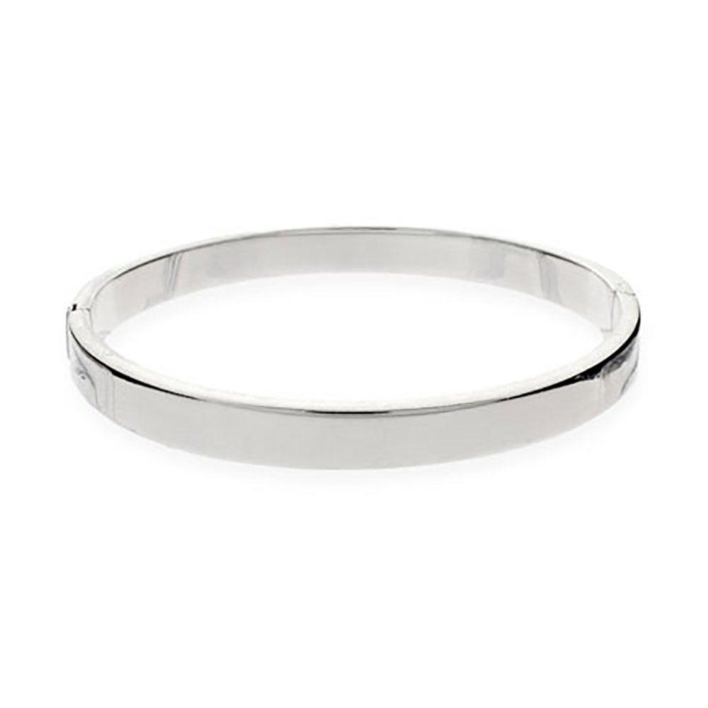 5mm Flat Engravable Sterling Silver Bangle Bracelet