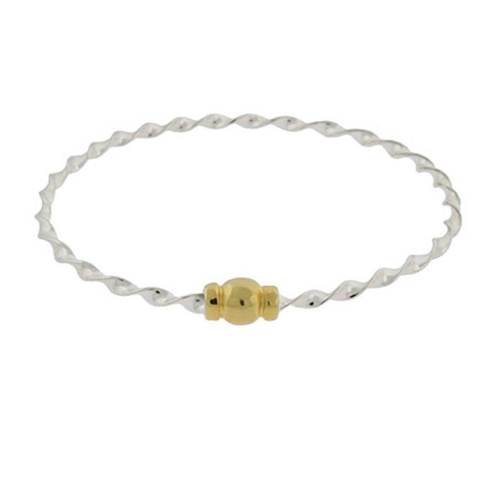 Sterling Silver Twisted Cape Cod Style Bangle Bracelet