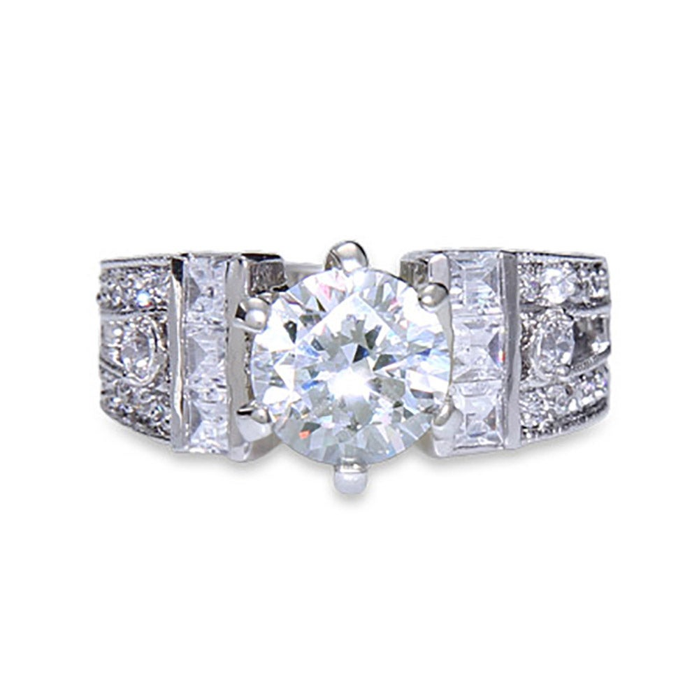 1 5 Carat High Set CZ Engagement Ring