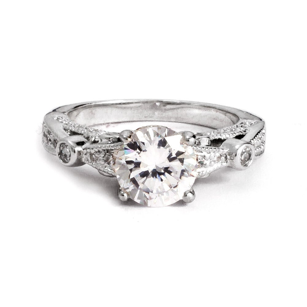 brilliant cut cz vintage style engagement ring s
