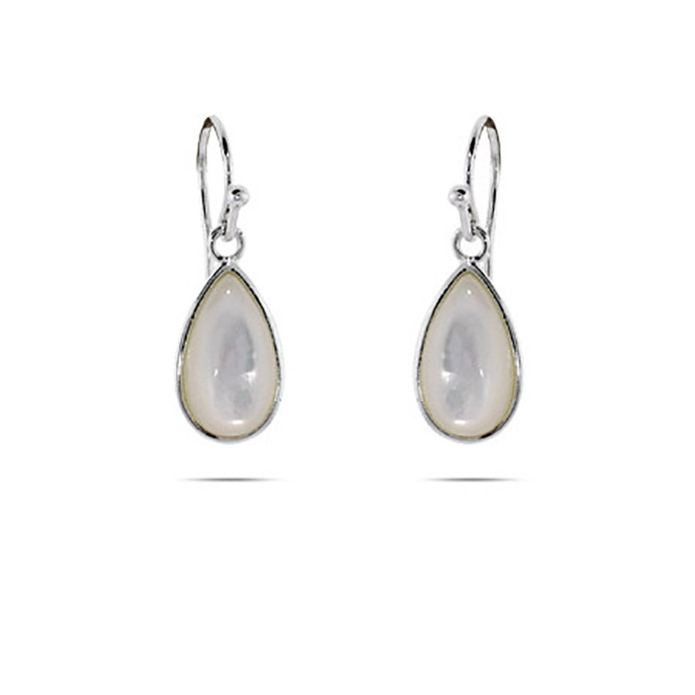Mother Of Pearl Sterling Silver Peardrop Earrings