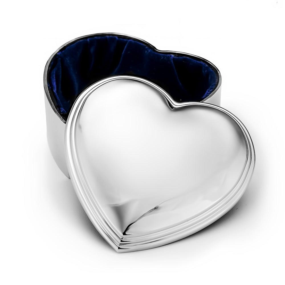 Engravable heart shaped keepsake jewelry box for Heart ring box
