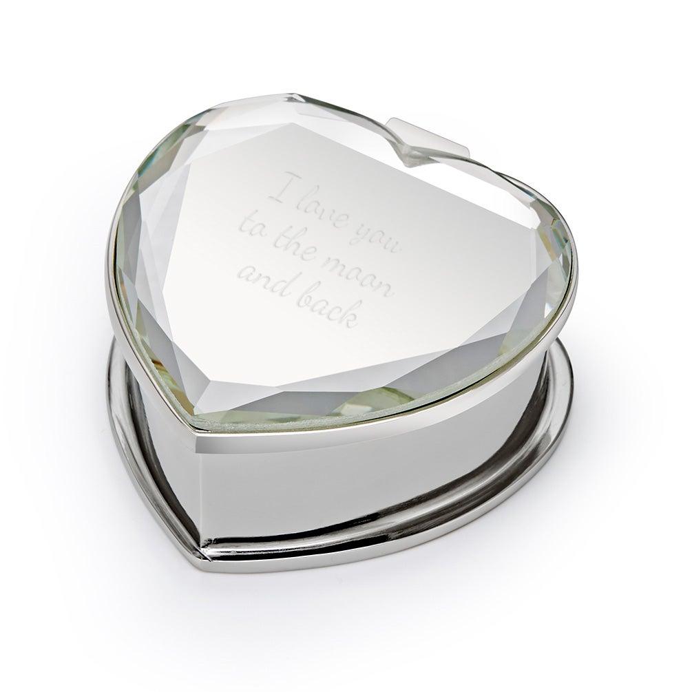 Custom engagement ring box mirror engravable ring box for Custom engagement ring box