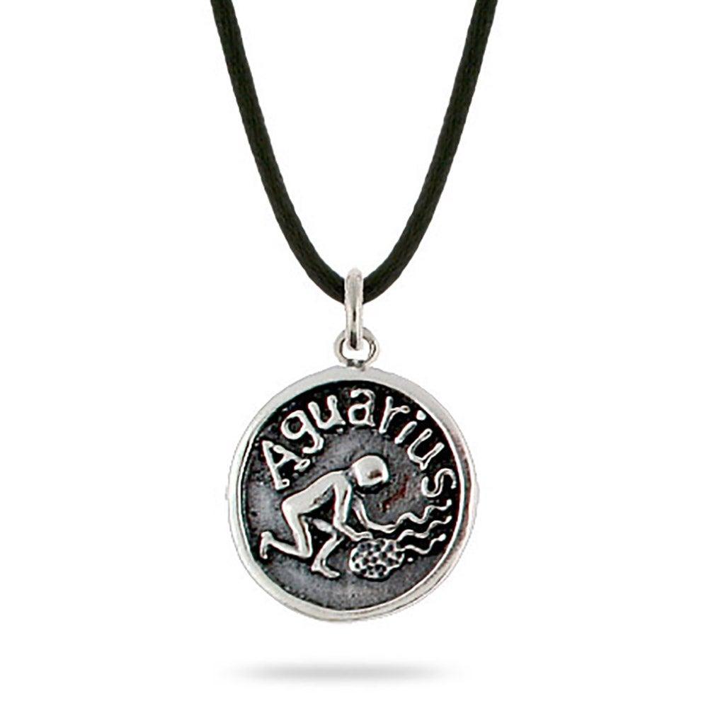 aquarius zodiac sterling silver pendant s addiction