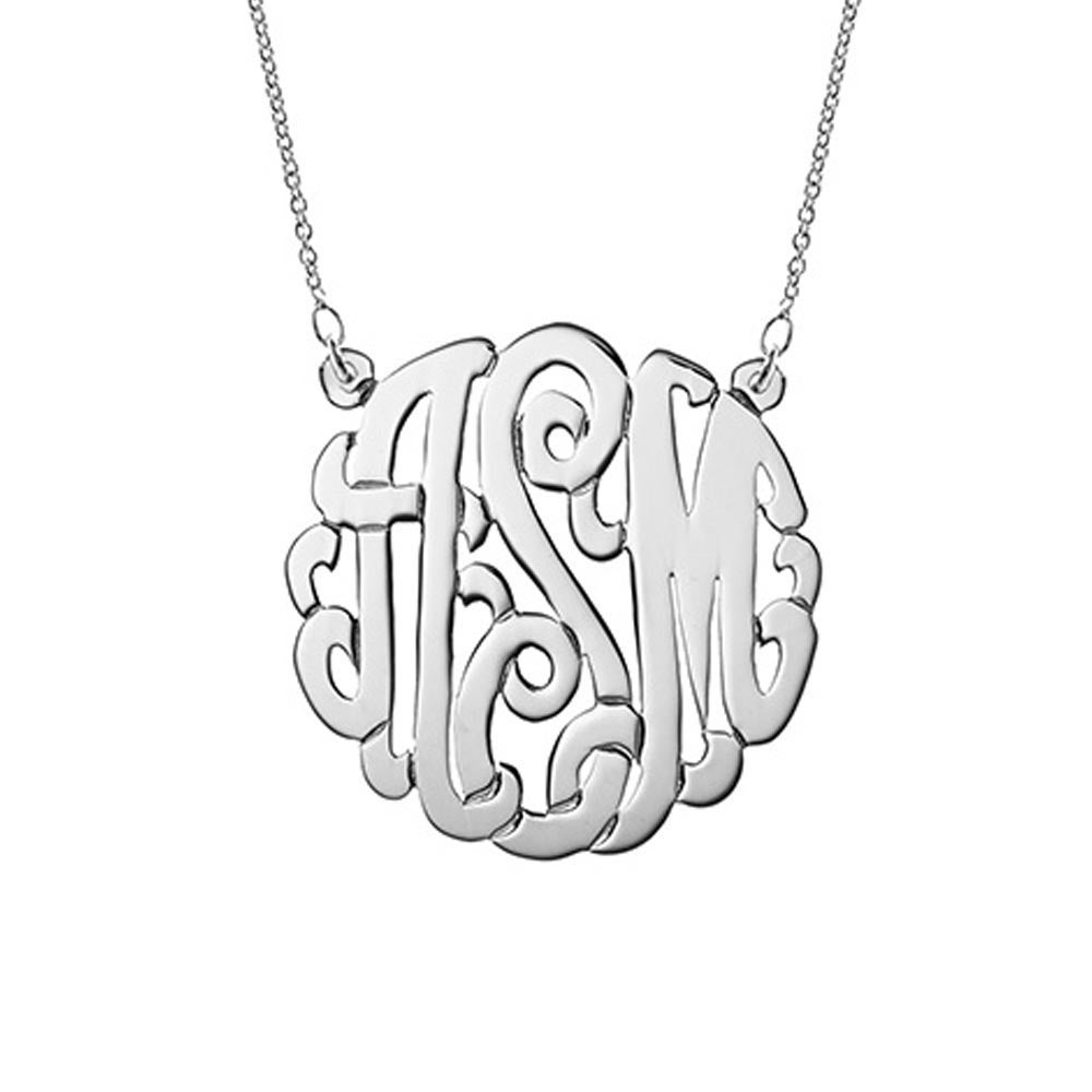 Sterling Silver Monogram Necklace  Eve's Addiction
