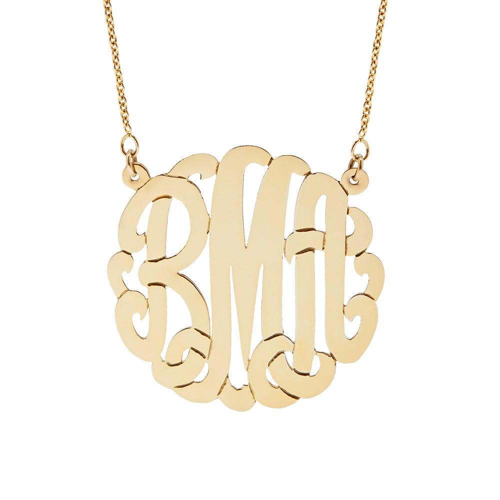 Gold Vermeil Monogram Necklace  Eve's Addiction®