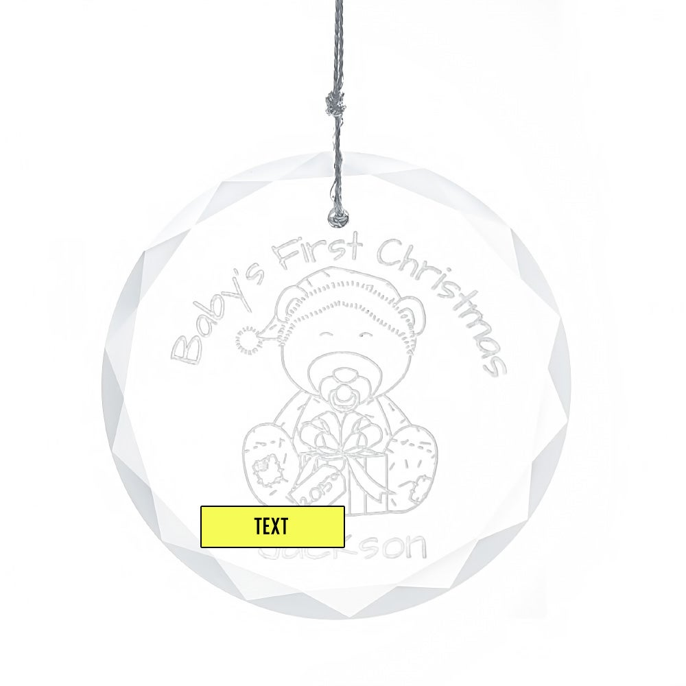 personalized baby u0026 39 s first christmas glass ornament