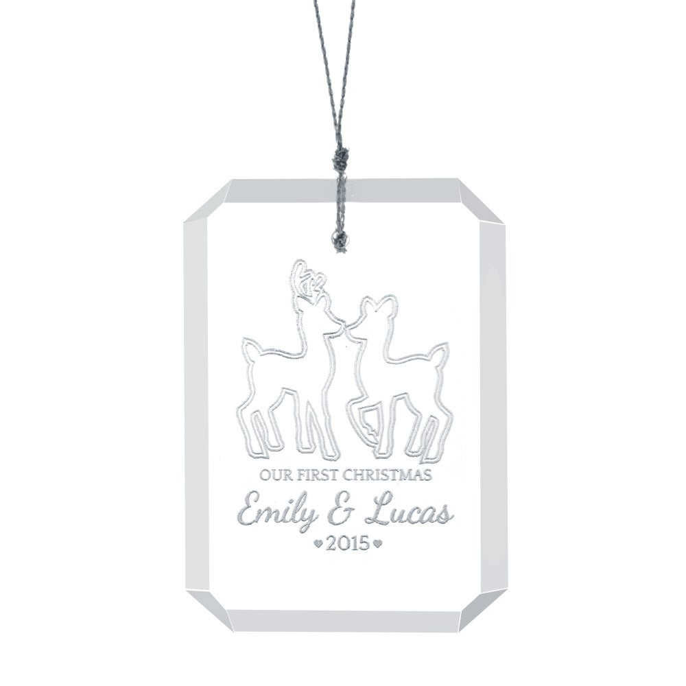 Personalized couples christmas ornaments - Our First Christmas Glass Personalized Couples Ornament