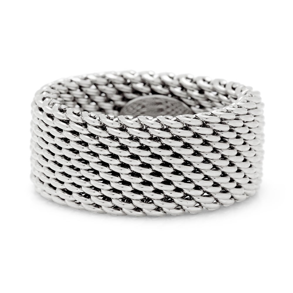 designer style sterling silver mesh ring s addiction 174
