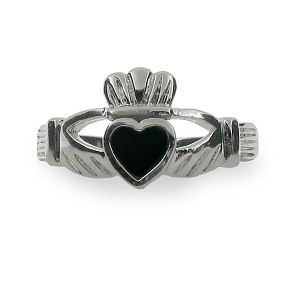 sterling silver black onyx claddagh ring s addiction