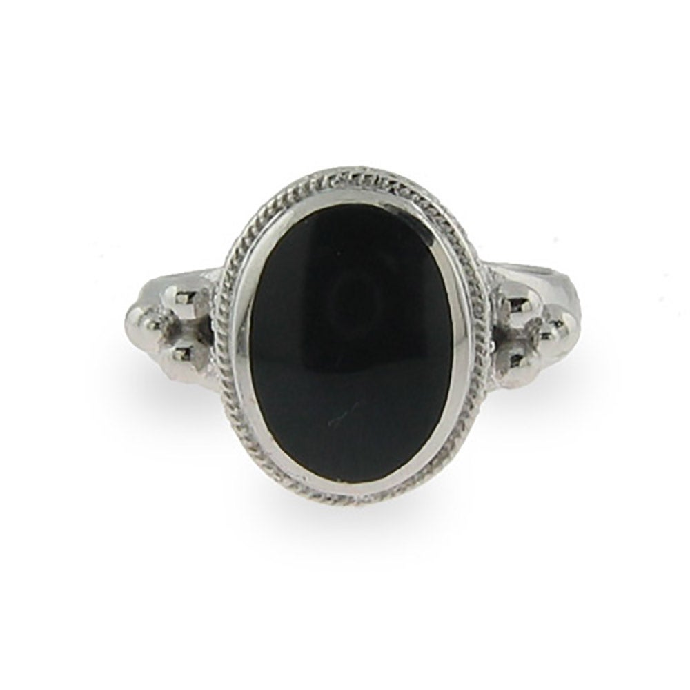 sterling silver oval black onyx ring s addiction 174