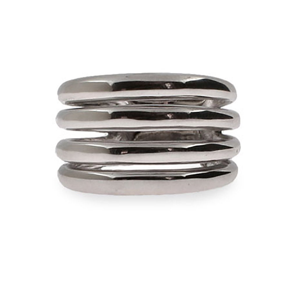 bold four band sterling silver ring s addiction 174