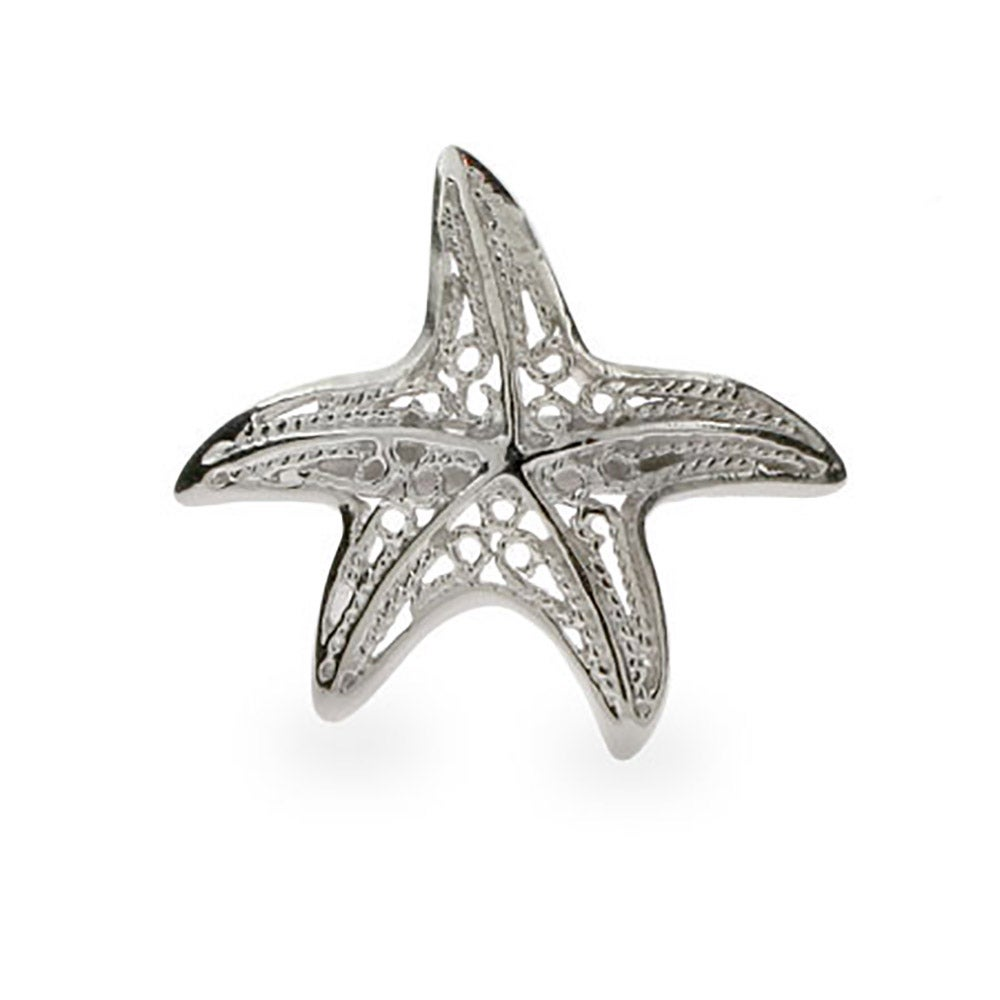 sterling silver starfish ring filigree s addiction 174