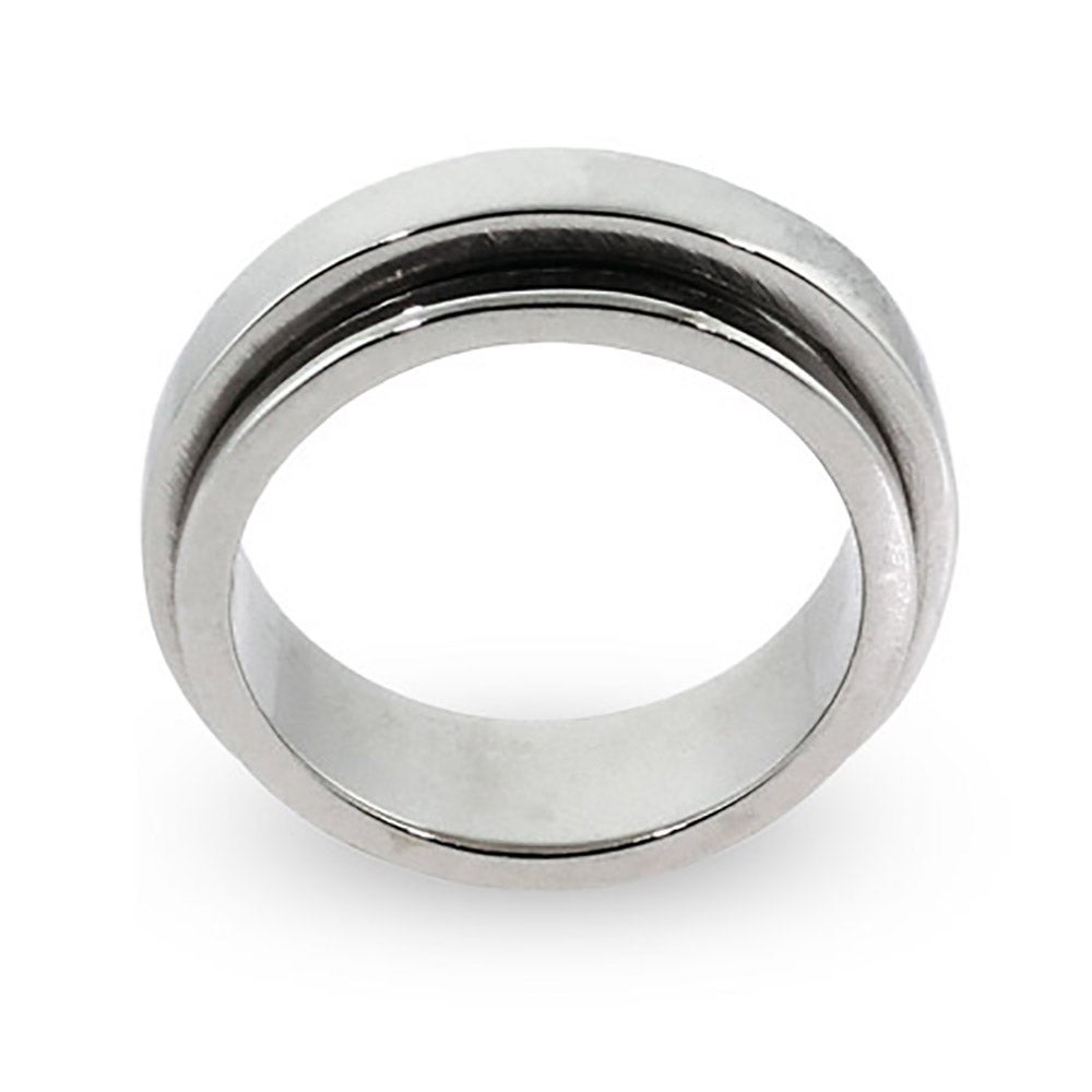 engravable sterling silver plain band spinner ring s