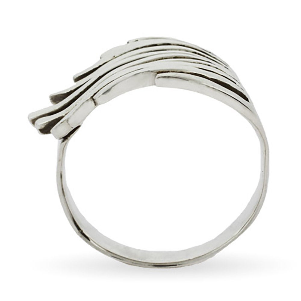 sterling silver feathery wave ring s addiction 174