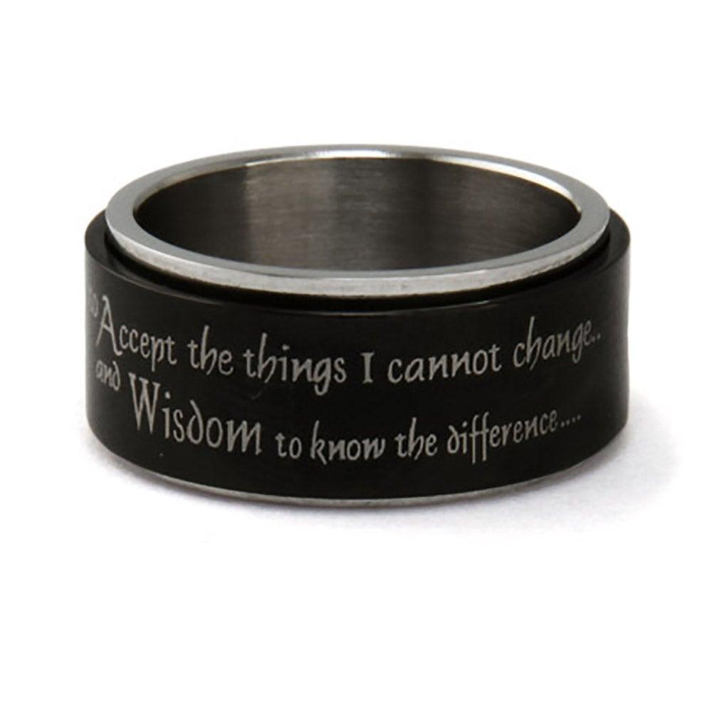 Engravable Serenity Prayer Spinner Ring Eve S Addiction 174