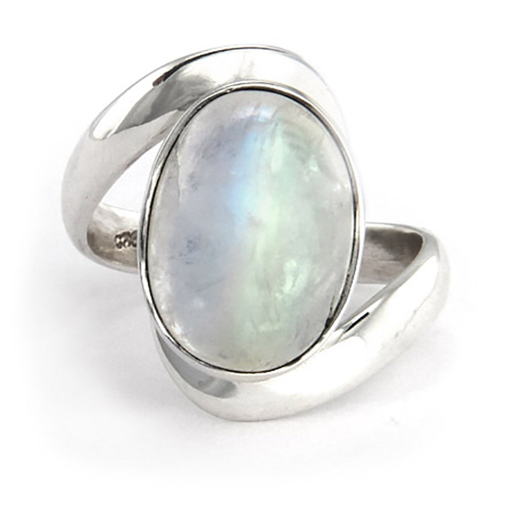 Vampire Inspired Sterling Silver Moonstone Ring