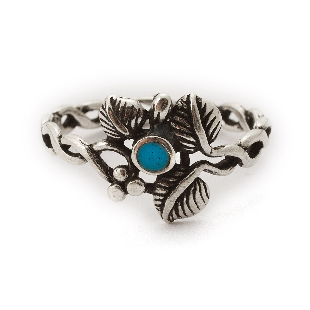 3 leaf sterling silver turquoise ring s addiction 174