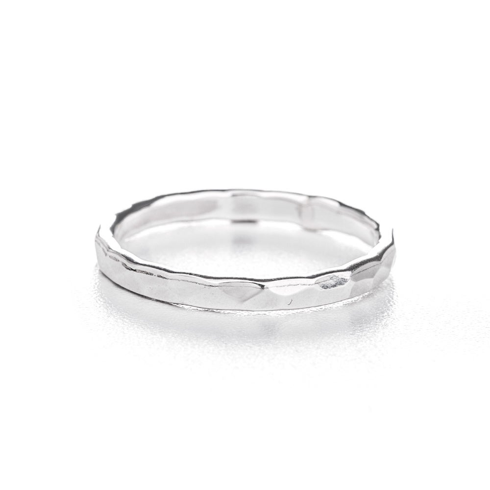 hammered 2mm sterling silver ring s addiction 174
