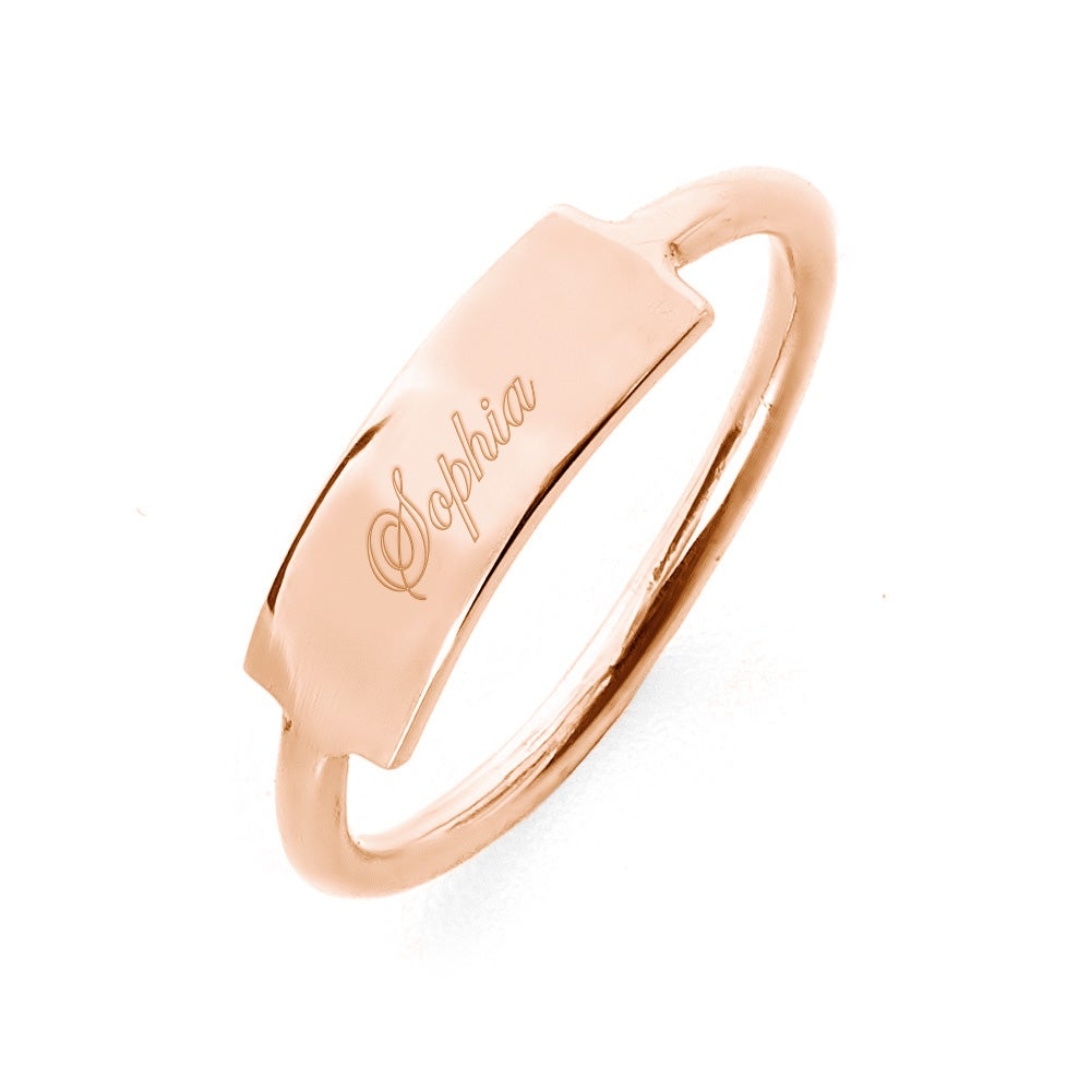 "Rose gold signet ring for women with ""what is a signet ring"" answered"