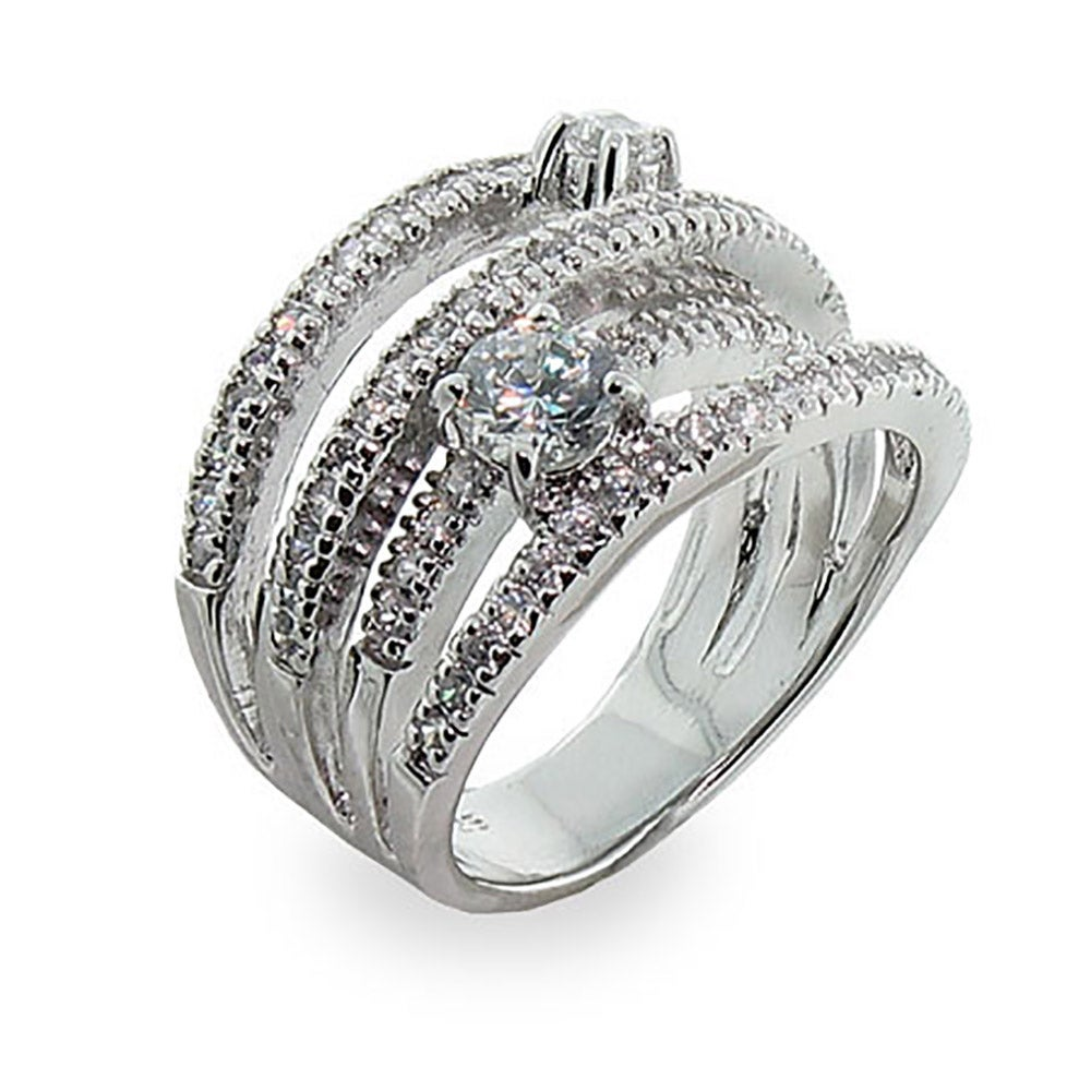 sterling silver cz highway ring s addiction 174