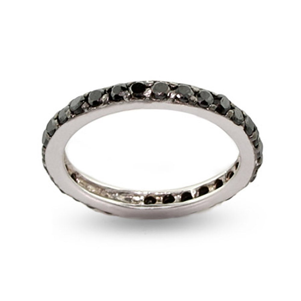 black cz stackable sterling silver ring s addiction