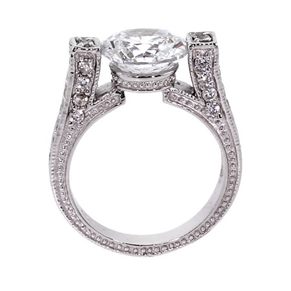 vintage style brilliant cut cz engagement ring s