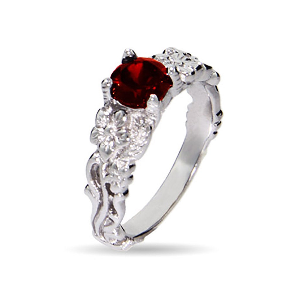 inspired garnet ring with cubic zirconia | eve's addiction