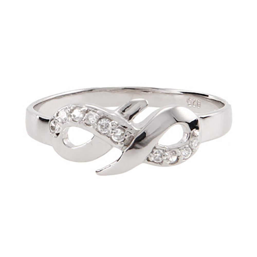 cz infinity ring in sterling silver s addiction 174