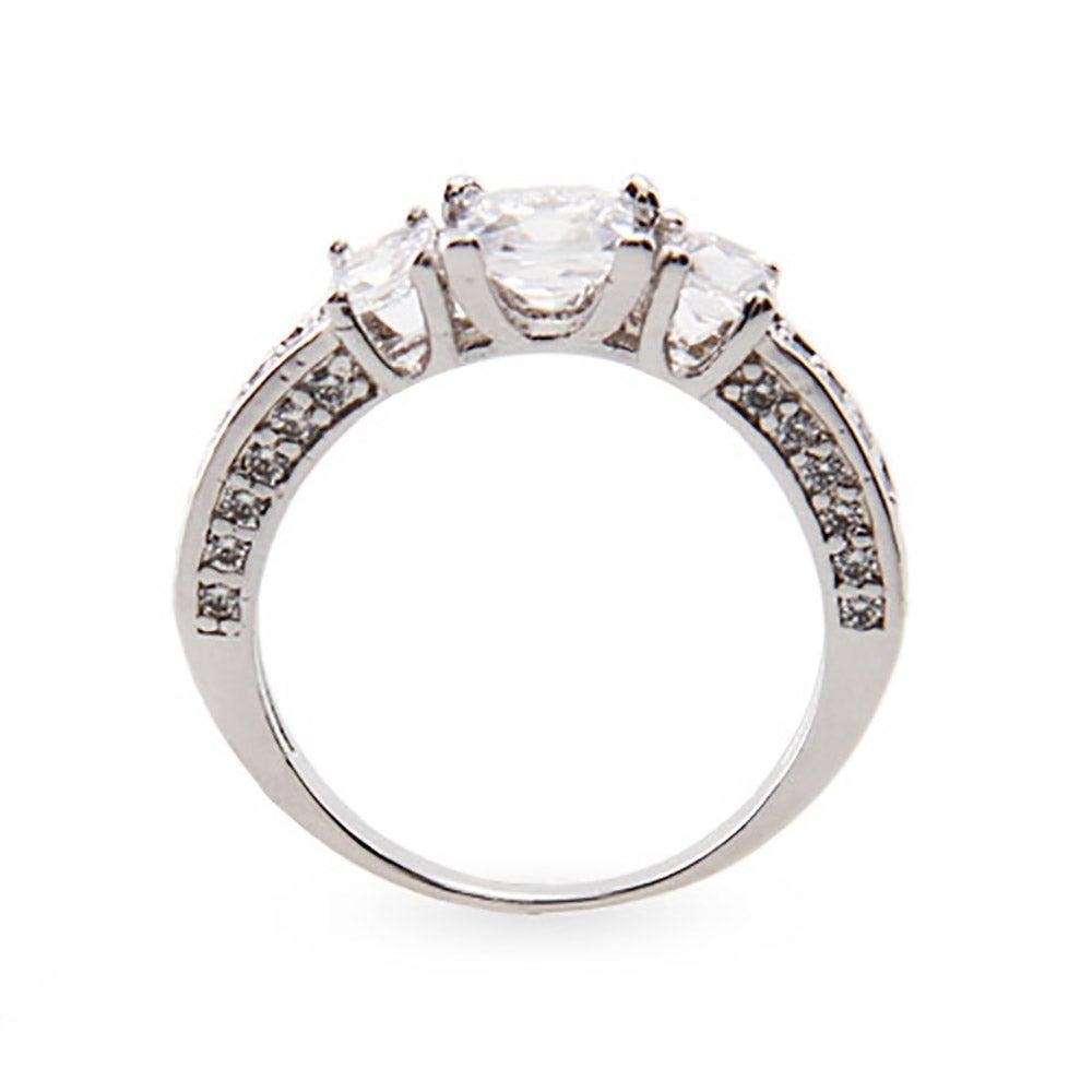 princess cut cz past present and future ring