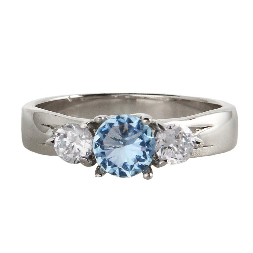 3 Stone Sterling Silver Custom Birthstone Ring Eve S
