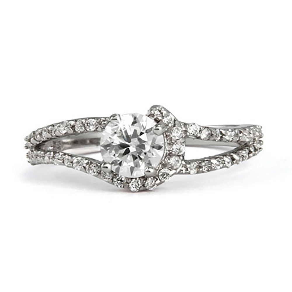 sterling silver and cz cut promise ring s