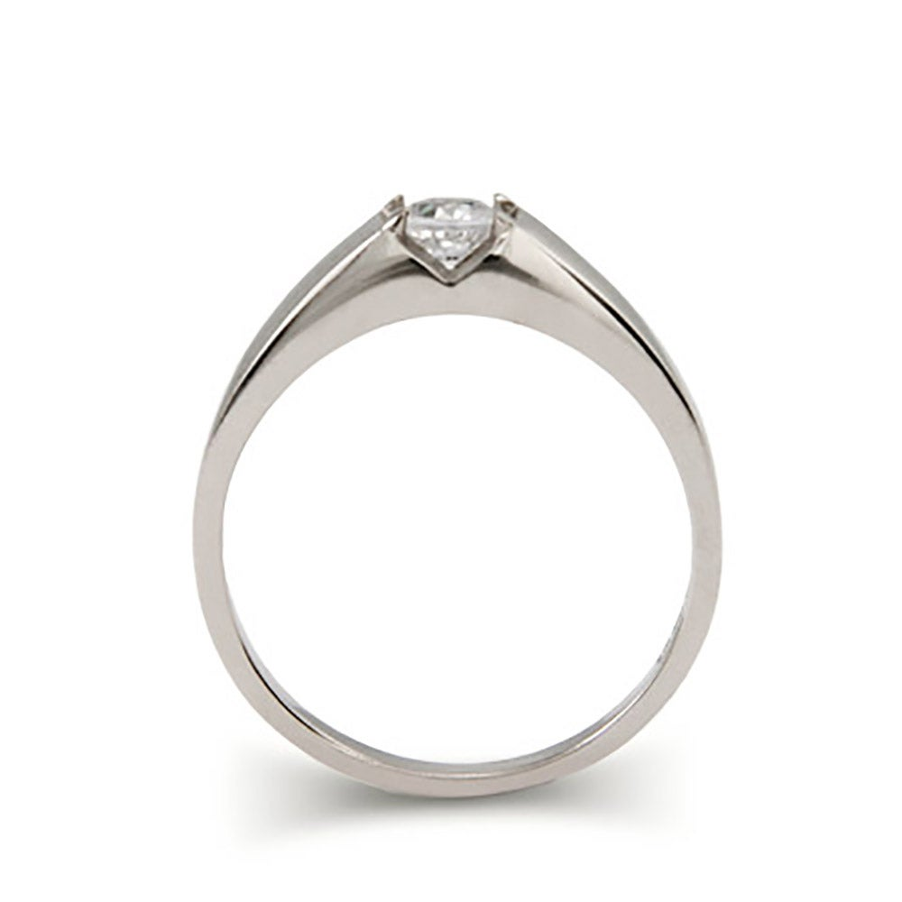 solitaire brilliant cut sterling silver promise