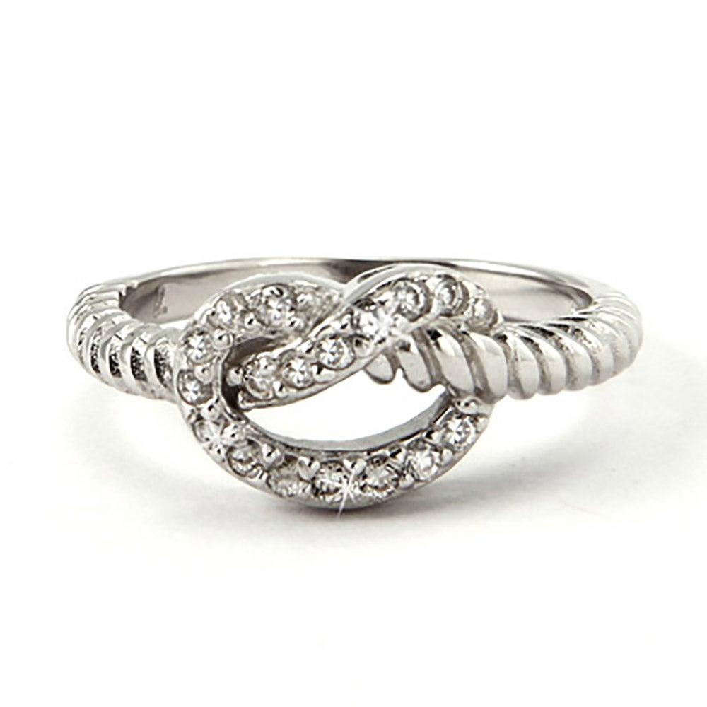 designer inspired cabled cz pretzel ring s addiction 174