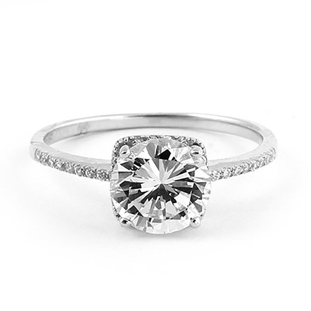 2 Carat Brilliant Cut Cz Engagement Ring  Eve's Addiction® Hover To  Zoom