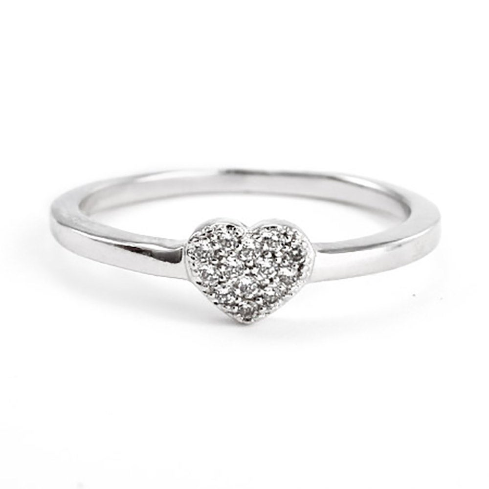 pave cz stackable promise ring