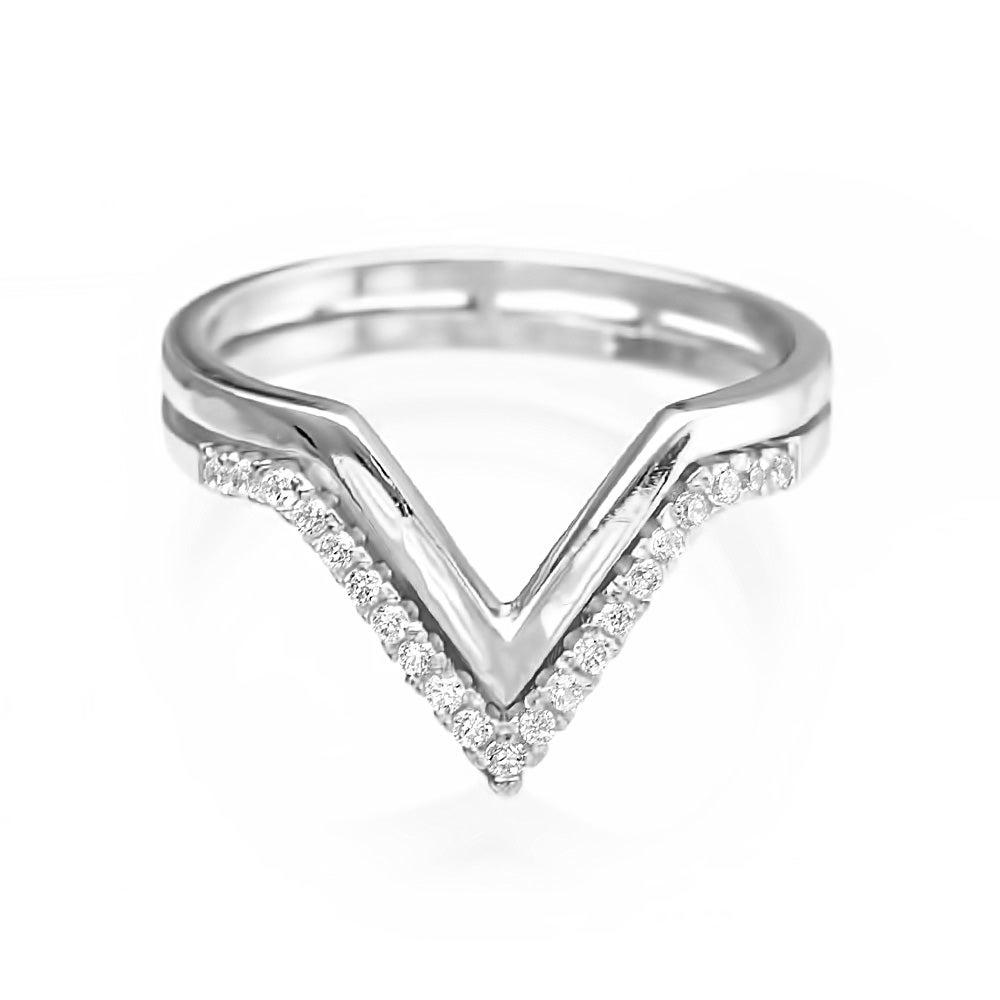 chevron cz sterling silver ring s addiction 174