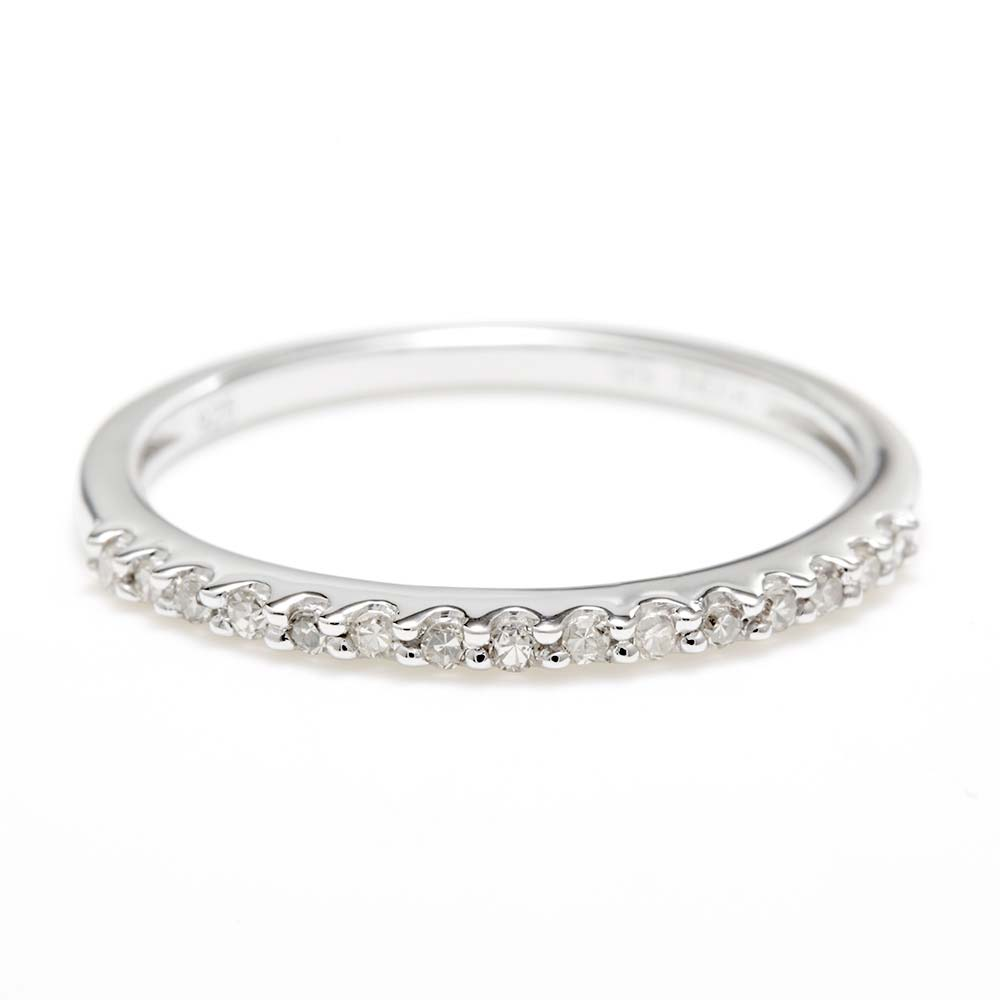 14k white gold thin promise ring