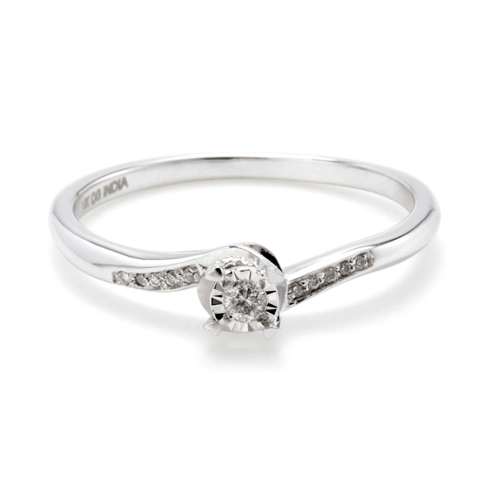 14k white gold promise ring