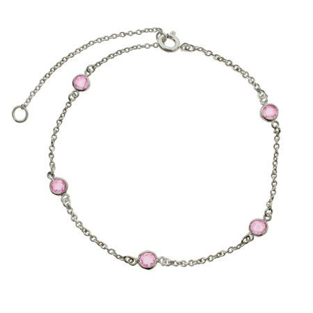 Pink CZ Studded Anklet | Eve's Addiction®