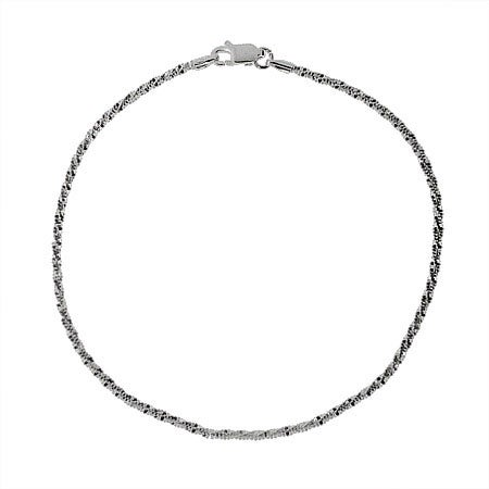 Sparkling Diamond Cut Sterling Silver Anklet | Eve's Addiction®