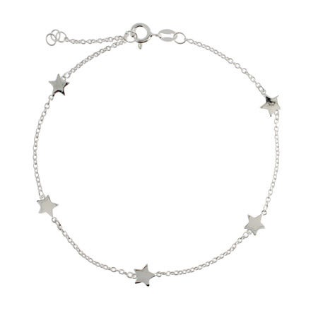 Chain of Stars Sterling Silver Anklet | Eve's Addiction®