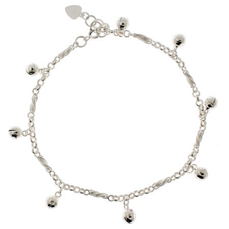 Jingling Bell Ankle Bracelet in Sterling Silver | Eve's Addiction®