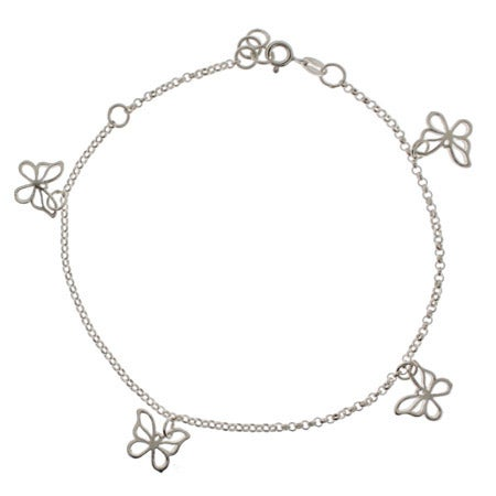 Butterfly Charm Anklet | Eve's Addiction®