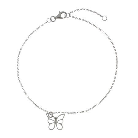 Designer Style Single Butterfly Charm Anklet | Eve's Addiction®