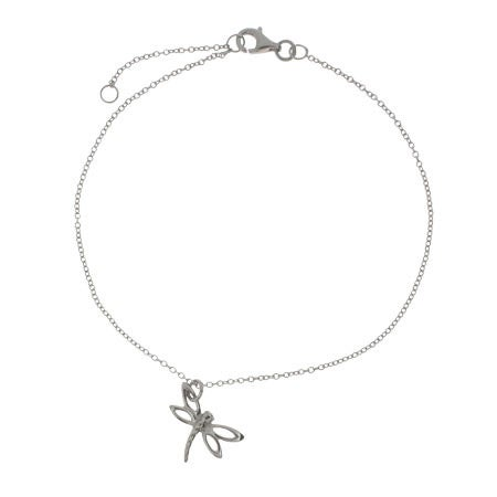Designer Style Dragonfly Charm Anklet | Eve's Addiction®