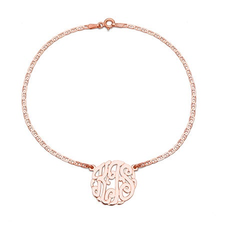 Rose Gold Vermeil Custom Monogram Anklet | Eve's Addiction®