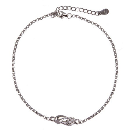 Sterling Silver and CZ Yin Yang Anklet | Eve's Addiction®